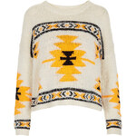 Topshop Knitted Hairy Aztec Jumper