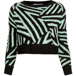 Topshop **Geometric Raglan Crop by Illustrated People