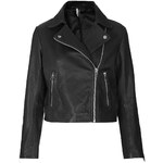 Topshop Boxy Leather Biker
