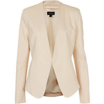 Topshop Collarless Panel Jacket