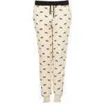 Topshop Quilted Dog Print Joggers
