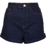 Topshop MOTO Indigo Mom Shorts