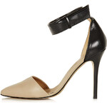 Topshop Gather 2-Part Pointed Heels