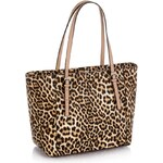 Guess Delaney Small Classic Tote Leopard Bag