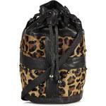 Topshop Leopard Pony Duffle Bag
