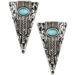 Topshop Engraved Arrow Studs