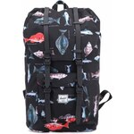 Černý batoh s potiskem ryb Herschel Little America