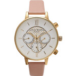 Topshop **Olivia Burton Big Dial Chrono Detail Dusty Pink and Gold Watch
