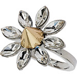 Topshop Rhinestone Flower Spike Ring