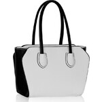 LS fashion LS dámská kabelka na rameno 307 černo-bílá