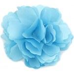 Květina do vlasů a na klopu modrá A25890