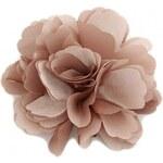 Květina do vlasů a na klopu béžová A25887