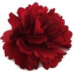 Květina do vlasů a na klopu rudá A25889