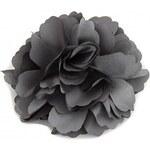 Květina do vlasů a na klopu šedá A25881