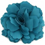Květina do vlasů a na klopu tmavě modrá A25885