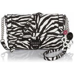 Guess Bianconero Zebra Crossbody Flap Bag