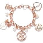 Guess Náramek Rose Gold-Tone Charm Bracelet