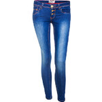Terranova Medium wash stretch jeans with ankle zip