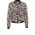 Terranova Animal-print bomber jacket