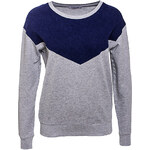 Terranova Sweatshirt with denim-effect inserts