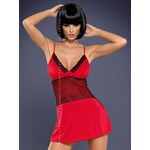 Obsessive Košilka Lamia chemise - červená - L/XL