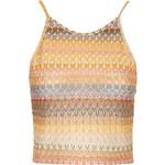 Topshop Crochet Square Neck Crop Top