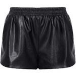 Topshop Black Faux Leather Shorts