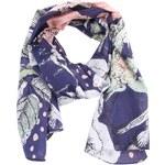 Modrý šátek Disaster s romantickým potiskem