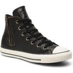 SALE -10% : Converse (Women) - Chuck Taylor All Star Side Zip Leather Hi W (Black)