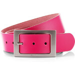 Esprit leather belt with large rectangular buckle