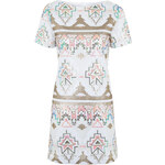 Topshop **Aztec Sequin T-Shirt Dress by Rare