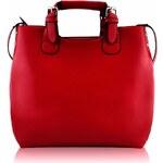 LS Fashion Červená kabelka L&S fashion LS00267 červená