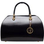 Glamorous by Glam Kožená kabelka matná černá