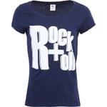 Tmavě modré dámské triko s krátkými rukávy Vero Moda Dora