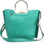 Zelený shopper s kovovou ručkou Milan Fashion