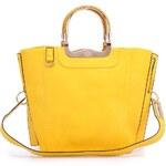 Žlutá obdélníková kabelka Milan Fashion