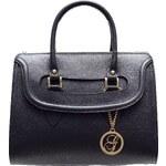 Glamorous by Glam Kožená kabelka do ruky černá
