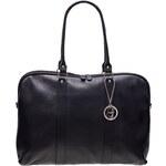Glamorous by Glam ?Černá kožená kabelka velká