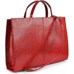 DAN-A Kožená dámská kabelka DANA červená