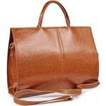 DAN-A Kožená dámská kabelka DANA světle hnědá