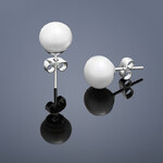 Buka Jewelry Buka Perlové náušnice Mutiara – bílá 309