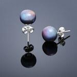 Buka Jewelry Buka Perlové náušnice Mutiara – modrá 315
