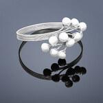 Buka Jewelry Buka Perlový náramek Peacock – bílá 601