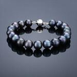 Buka Jewelry Buka Perlový náramek Mutiara 10 AA černý 626