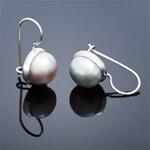 Buka Jewelry Buka Perlové náušnice Buka velké – šedá 122