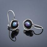 Buka Jewelry Buka Perlové náušnice Lotus – černá 142