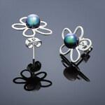 Buka Jewelry Vpichovací náušnice Bunga – modrá tmavá 221