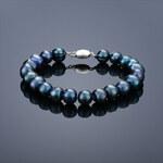 Buka Jewelry BUKA Perlový náramek Mutiara – černá 626-A