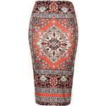 Topshop Persian Rug Tube Skirt