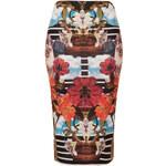 Topshop Mirror Cat Tube Skirt
